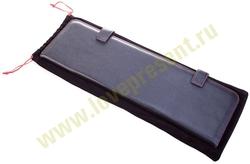 Футляр для галстуков Viaggi, черный с красной отделкой